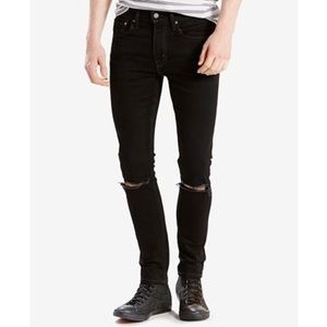 Levi's | Extremely Skinny black Ripped Knee Jeans
